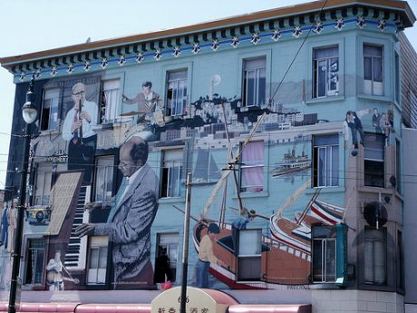 Bill Weber's Jazz Mural San Francisco by: VV Nincic