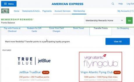 American Express Transfer Bonus