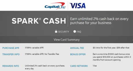 Capital one spark business credit card 1000 bonus capital one spark business credit card colourmoves