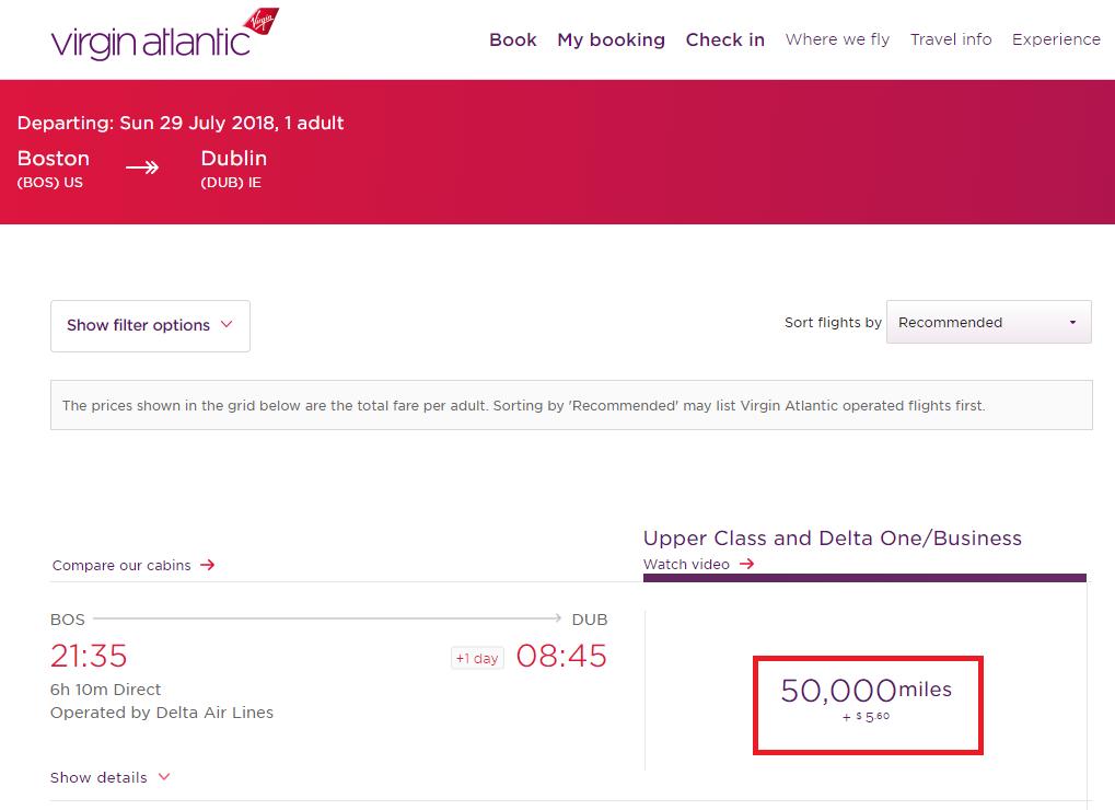 American Express Transfer Bonus To Virgin Atlantic In