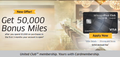 50,000 Chase United Club offer is back