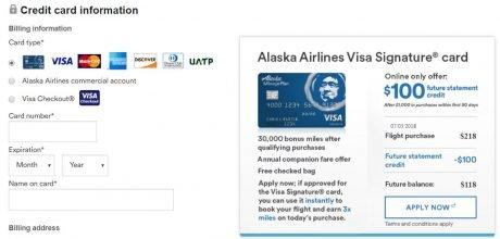 Alaska 30,000/$100