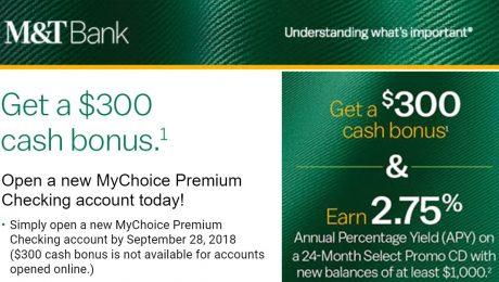 M&T Bank $300