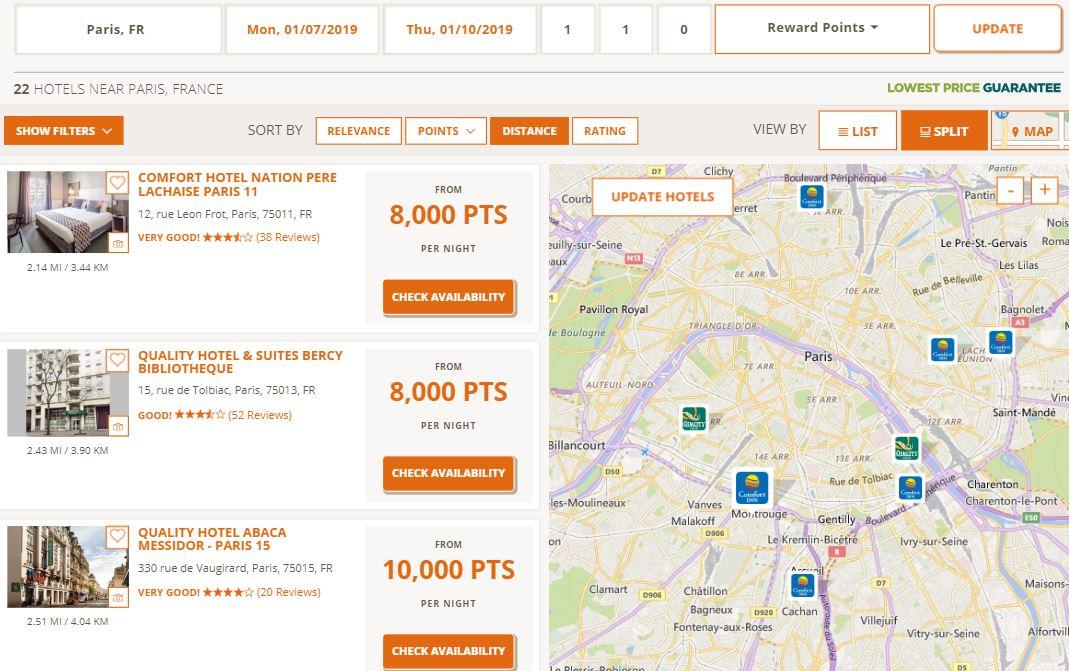 Choice Points Offer: how far your 64,000 points will go ... on starwood hotels map, wynn hotel map, bellagio hotel map, omni hotel map, la quinta hotels map, old navy map, hampton inn map, marriott hotels map, drury hotels map, ayres hotels map, carlson hotels map, courtyard by marriott map, quality inn map, motel 6 map, americinn map, hilton hotels map, extended stay hotels map, venetian hotel map, ramada map, westin hotel map,
