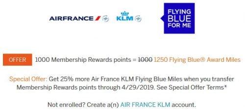 amex flying blue transfer bonus