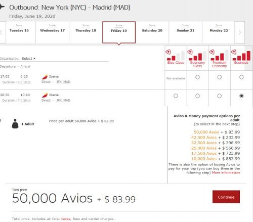 40% Amex Iberia Transfer Bonus works for PEAK travel too