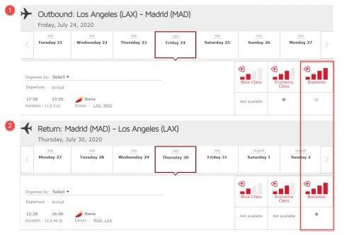 Iberia Business Class: LA to Madrid