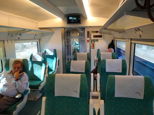 Renfe train first class Cadiz-Madrid