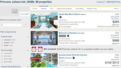 Expedia VIP Access hotels in St. Maarten