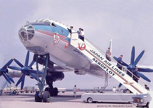 first lie-flat seats -- Air Japan TU-114