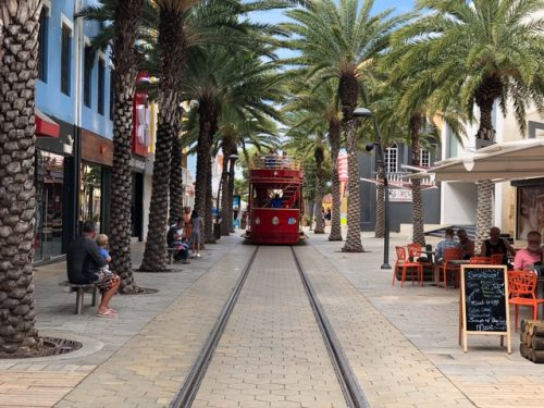 Caribbean Islands Are Reopening: Aruba street tram