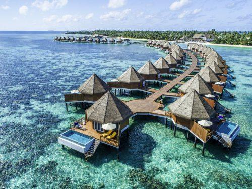 Maldives all inclusive overwater villa: exterior